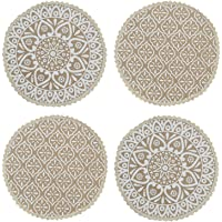Saral Home Decorative Cotton Table Mat (Pack of 4 pc, 39x39 cm 2pc n 31x31 cm 2pc)