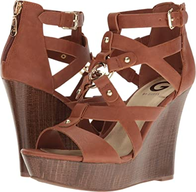 fe3305397 Amazon.com | G by Guess Womens Dodge Open Toe Casual Platform ...