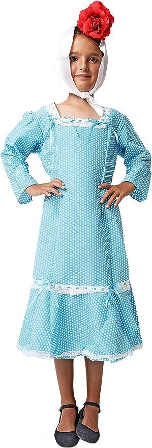 Costumizate! Traje de Chulapa Madrileña Azul Tallas Diferentes para niña Especial San Isidro: Amazon.es: Productos para mascotas