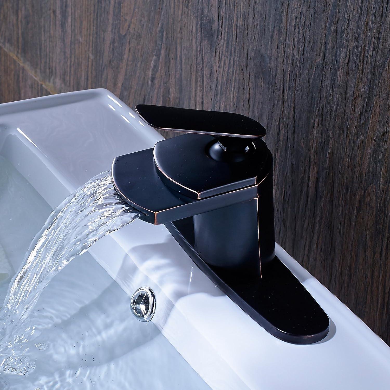 Senlesen 蛇口 オイルラブドブロンズ 吐水口 バスルーム用 シンク用 洗面台用 化粧室用 混合栓 ブラック se0365001 B01GNN53WW オイルステイン仕上げブロンズ オイルステイン仕上げブロンズ