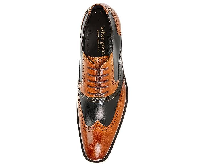 Amazon.com: Asher - Zapatos de vestir para hombre de piel de ...