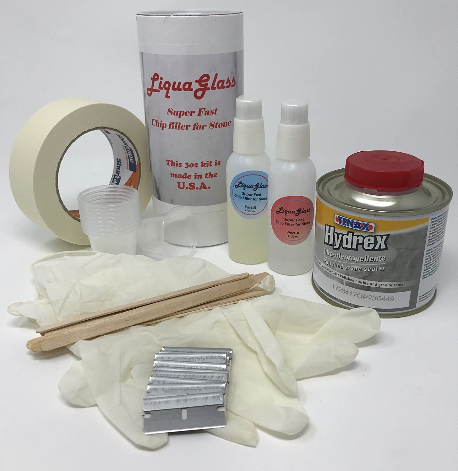 Instant Granite and Marble Chip Repair Kit -- Easy Stone