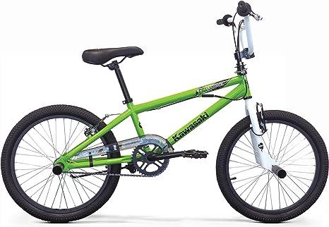 Kawasaki - Bicicleta BMX Krafti de 20 Pulgadas para niño, Verde ...