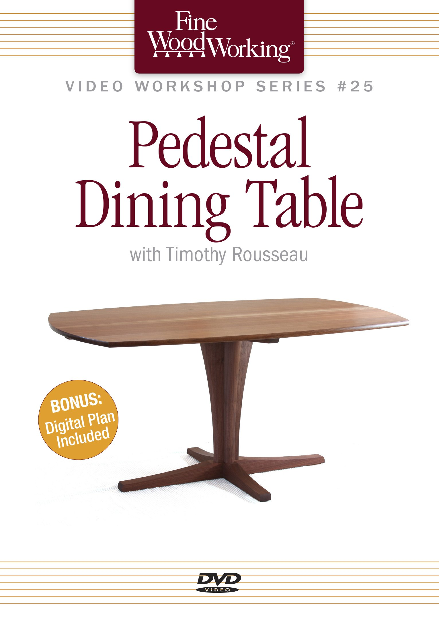 Fine Woodworking Video Workshop Series - Pedestal Dining Table by Taunton Press