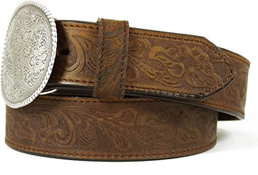 Nocona USA Ceinture style western//cowgirl//cowboy femme//homme boucle ovale//motif floral