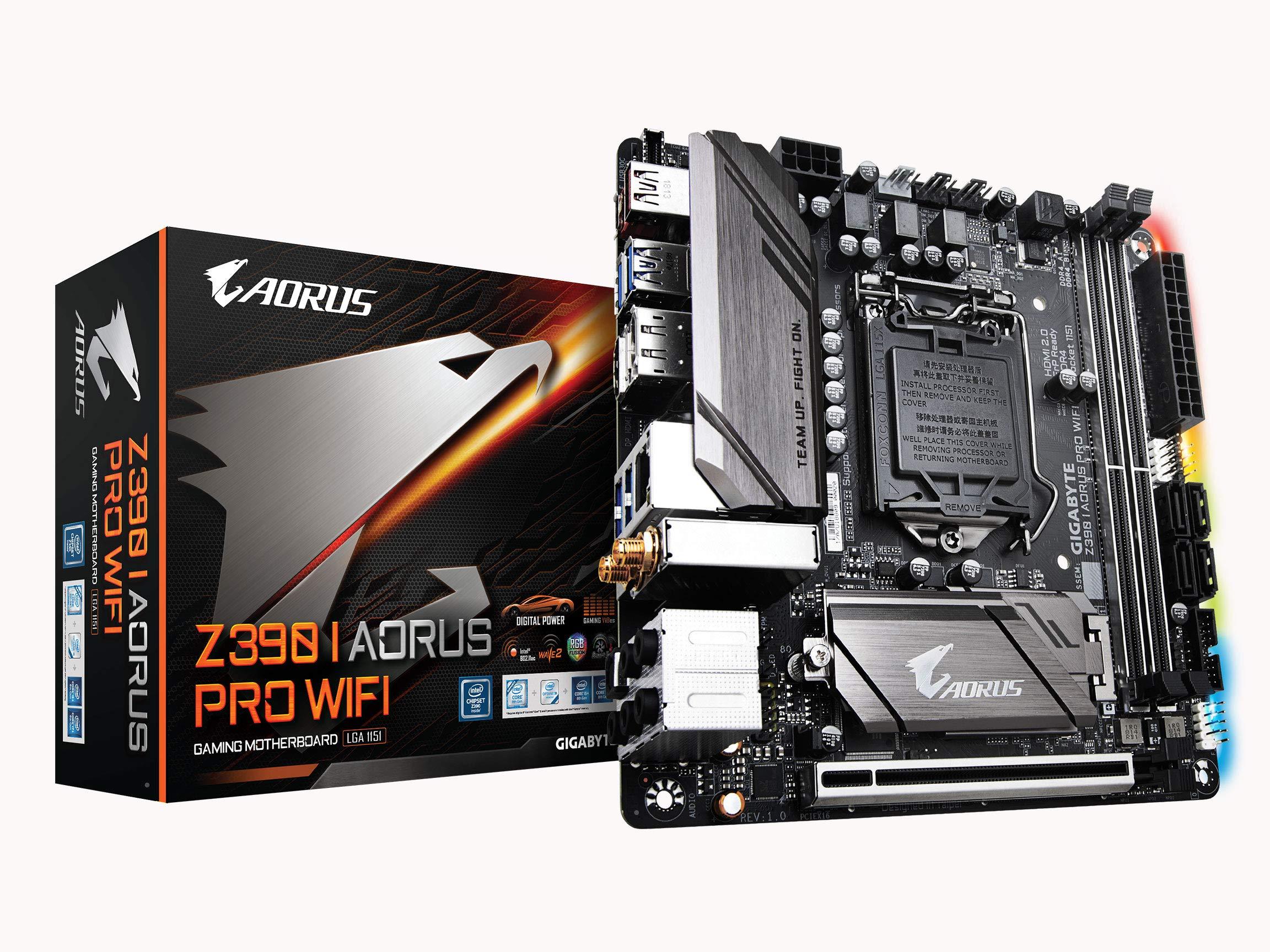 GIGABYTE Z390 I AORUS PRO WiFi (Intel LGA1151/Z390/Mini-ITX/M.2/Realtek ALC1220-VB/Intel GbE LAN/HDMI/Motherboards)