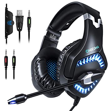 Amazon.com: Ounitech - Auriculares de diadema para juegos ...