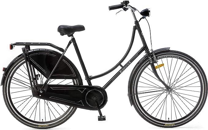 Bicicleta holandesa Popal OM28BASIC para mujer, sin marchas ...