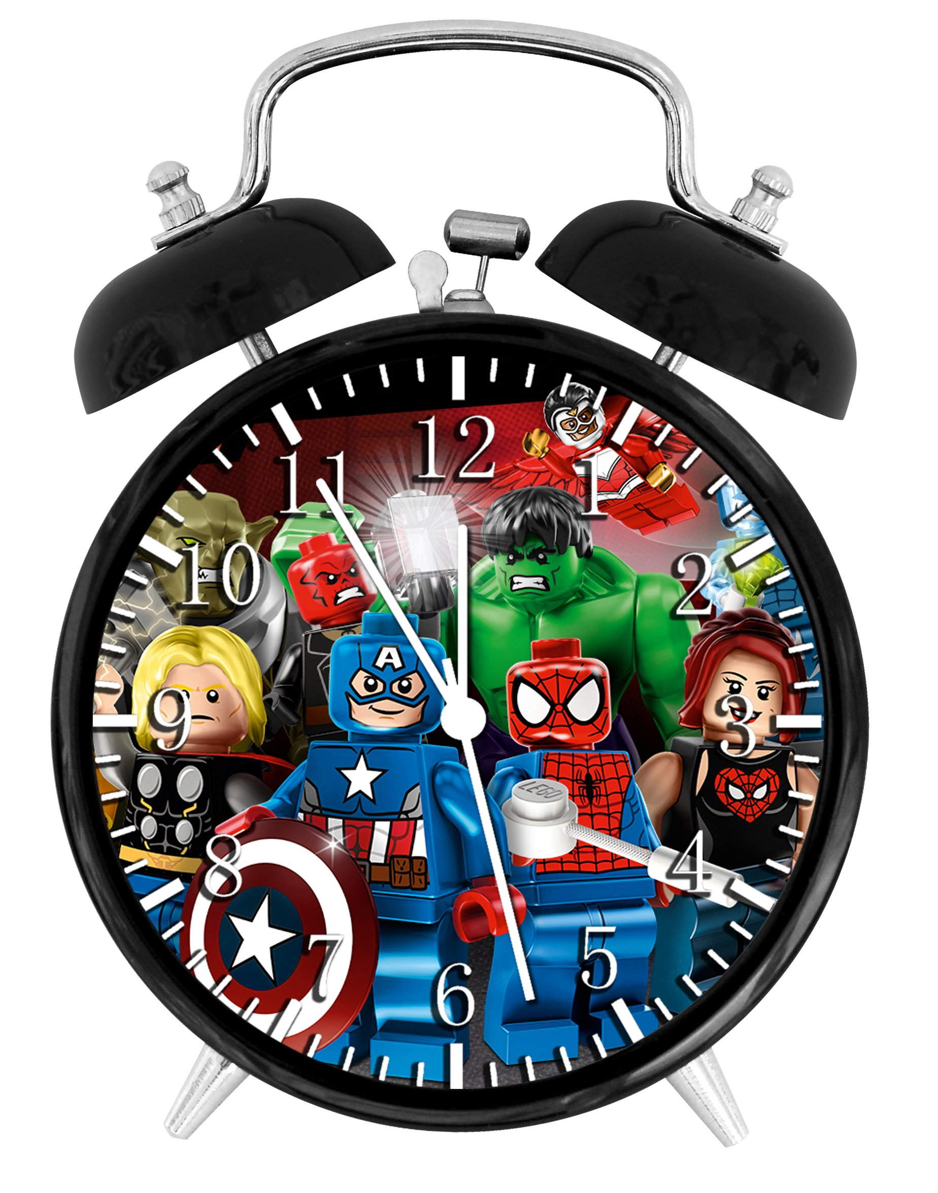 Lego Avengers Super Hero Alarm Desk Clock Home Office Decor F158 Nice For Gifts