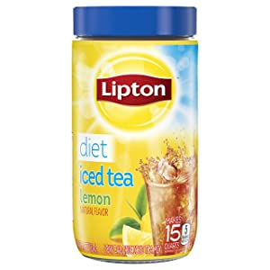 Lipton Black Iced Tea Mix Diet Lemon 15 qt - Pack of 2