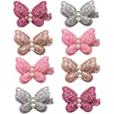 Elesa Miracle Baby Girl Hair Clips Toddlers Infants Kids Hair Butterfly Snap Clips Barrettes