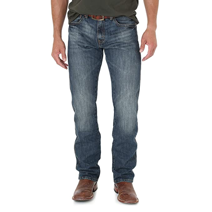 5ee342ea Image Unavailable. Image not available for. Colour: Wrangler Men's Retro  Slim Fit Straight Leg Jean, Dark Knight, 29x30