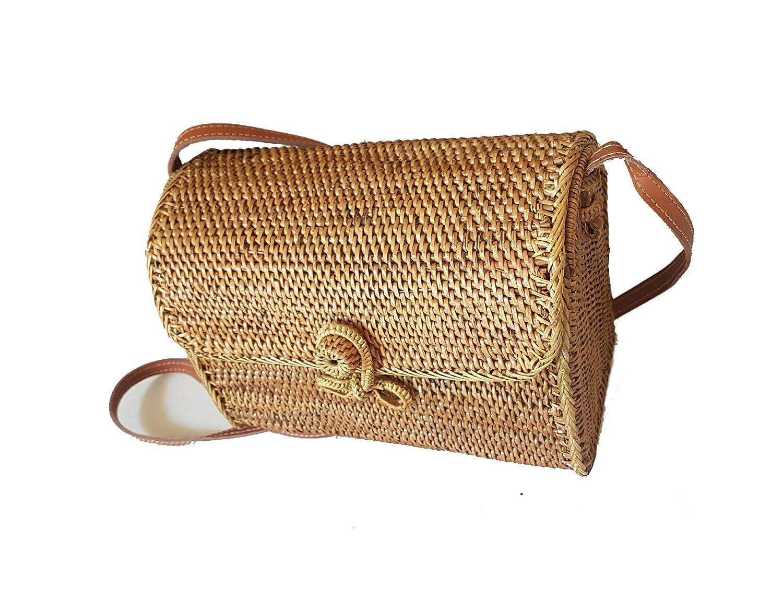 Amazon.com  Rattan Nation - Handwoven Mail Rattan Basket Bag 5f197b6ddf3cd