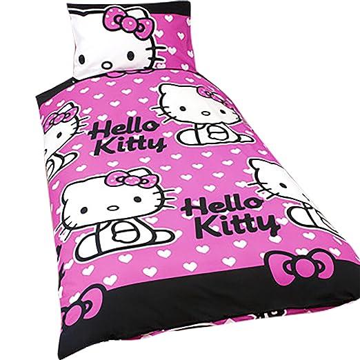 Amazon.com: Las niñas Hello Kitty ropa de cama funda de ...