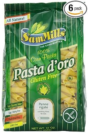 Sam molinos Pasta D Oro sin gluten Penne Rigate, 1-Pound ...