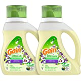 Gain Botanicals Plant Based Laundry Detergent, White Tea & Lavender, 25 Loads, 40 ounces, 2 count (Packaging May Vary)