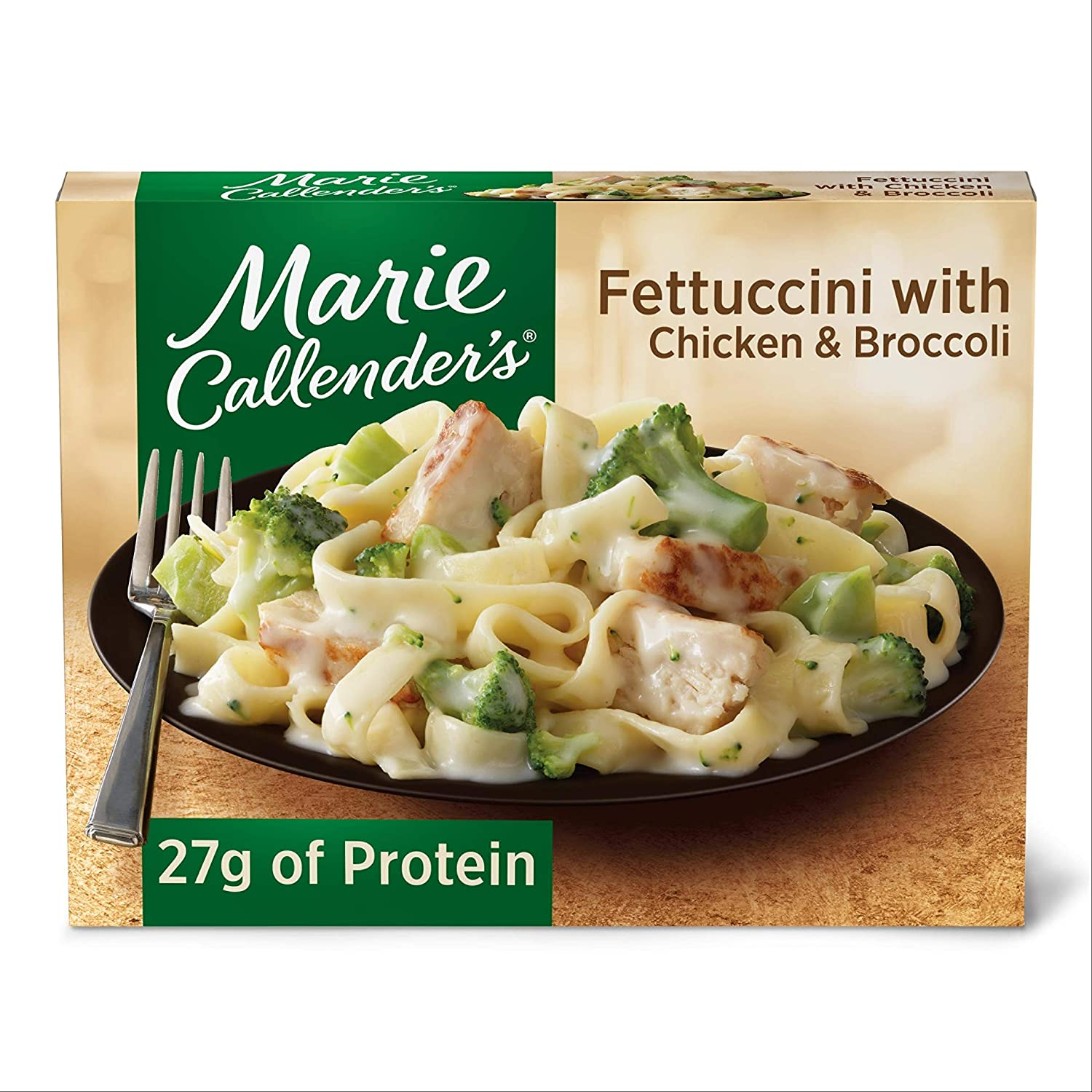 Marie Callender's Frozen Dinner, Fettuccini with Chicken & Broccoli, 13 Ounce