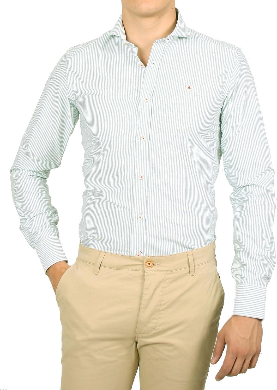 Alvaro Moreno, Camisa Strips Oxford-41, color Verde: Amazon ...