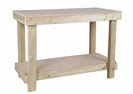 Remarkable 4Ft 1200Mm Mdf Top Work Bench Heavy Duty Strong And Sturdy Machost Co Dining Chair Design Ideas Machostcouk
