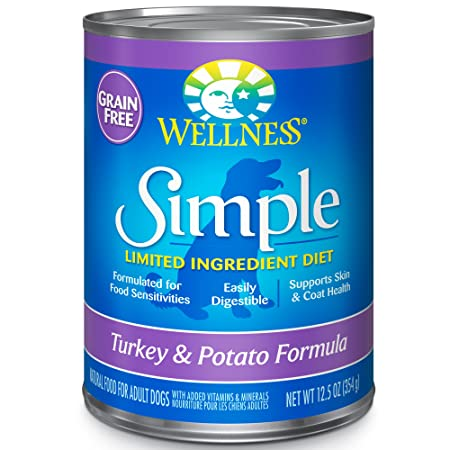 Wellness Simple Limited Ingredient Diet Grain Free Turkey Potato Canned Dog Food