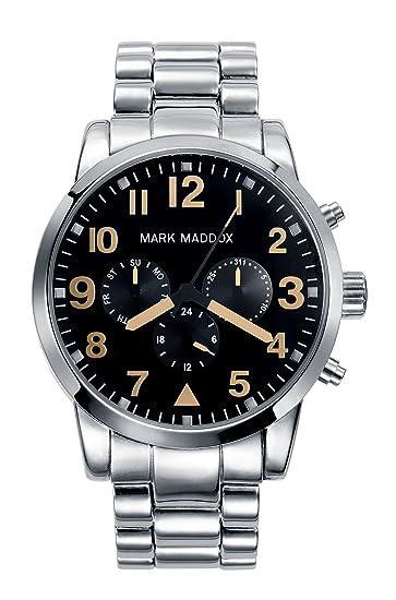 Mark Maddox HM3004-54 - Reloj de Pulsera Hombre, Color Plata: Amazon.es: Relojes