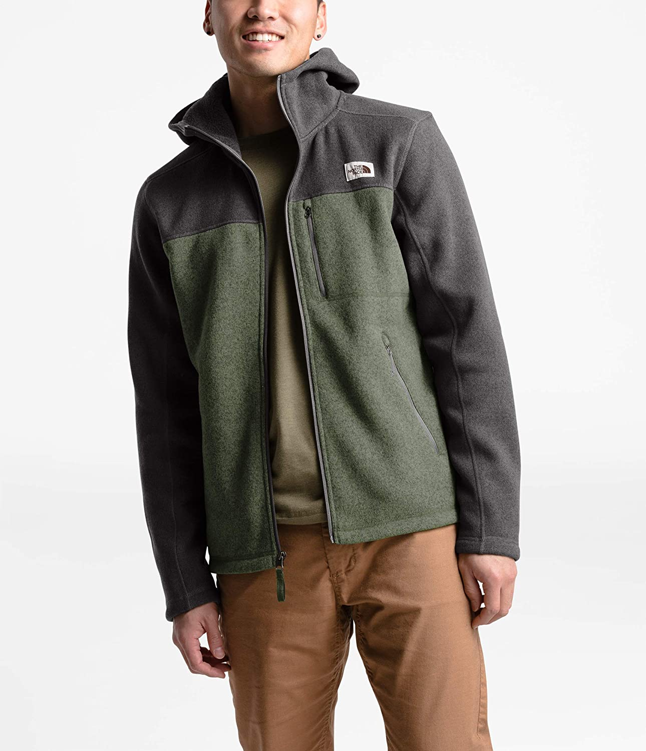 THE NORTH FACE Herren Lifestyle Gordon Lyons Kapuzenpullover Taupe Green Heather/Tnf Dark Grey Heather