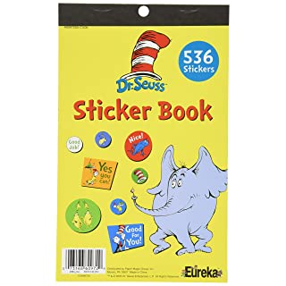 Eureka Back to School Sticker Dr. Seuss Stickers for Kids and Teachers, 536 Stickers in 1 Sticker Book, 5.8'' x 9.5'' inches