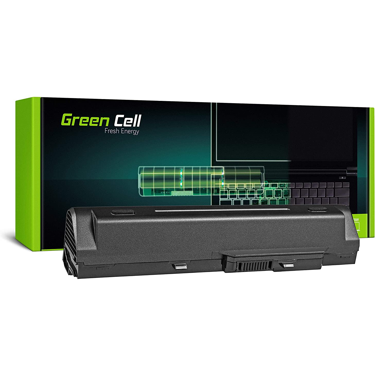 Green Cell® Extended Serie BTY-S11 BTY-S12 Batería para MSI Wind U90 U100 U110 U120 U130 U135 U135DX U200 U250 U270 Ordenador (9 Celdas 6600mAh 11.1V ...
