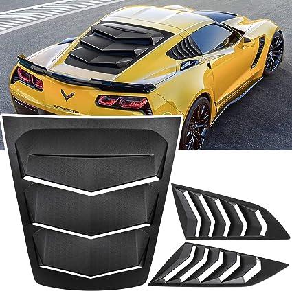 Side Window Louver Windshield Sunshade Cover in Lambo GT Style for 2014 2015 2016 2017 2018 2019 C7 Corvette Stingray Z06 Grand Sport ZR1 Z51