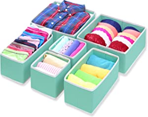 Simple Houseware SHW 6PK Closet Storage Box, Turquoise (2L2M2S)