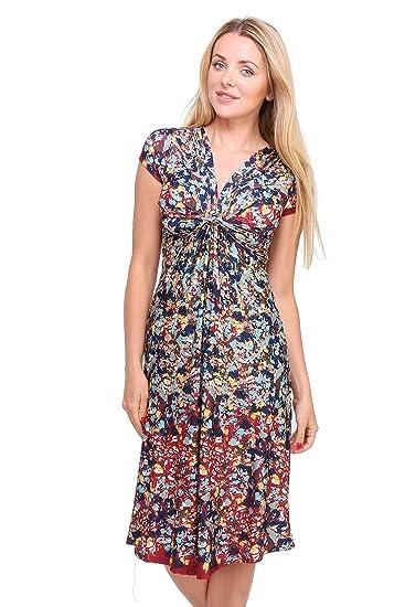 9cc7f33170d Revdelle - Robe avec nœud Made in France Manches Courtes pour Femme   Amazon.fr  Vêtements et accessoires
