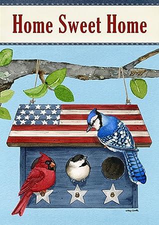Amazoncom Briarwood Lane Patriotic Living Spring Garden Flag Blue