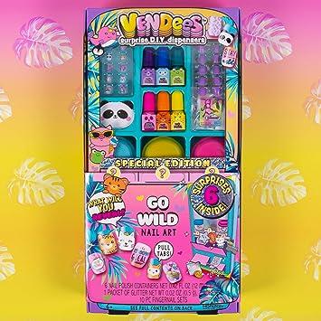 Vendees Go Wild Nail Art by Horizon Group USA, DIY Nail Art Craft Kit -  Nail Polish, Glitter, Nail Stickers & Artificial Nails Included Use Your