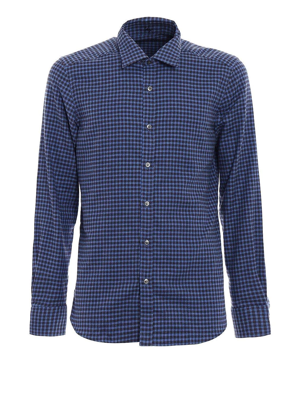innovative design 37477 683e9 fay Men's Ncma1352630ora0683 Blue Cotton Shirt at Amazon ...