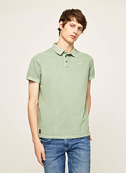 Pepe Jeans Polo Hombre PM541320 ROCO Verde (X-Large): Amazon.es ...