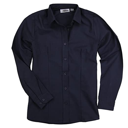 3bbac41e18bf Womens Basic Long Sleeve Button Down Oxford Work Shirt Blouse at Amazon  Women's Clothing store: