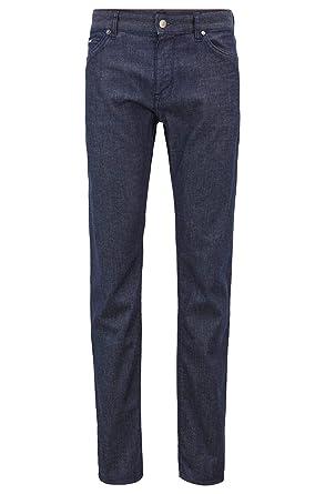 de0444e98e Amazon.com: Hugo Boss Men's Lightweight Regular-fit Jeans in Dark-Blue BCI  Denim: Clothing