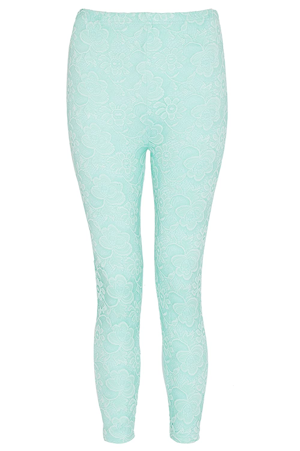 NOROZE Girls Front Mesh Lace Leggings Floral Tights