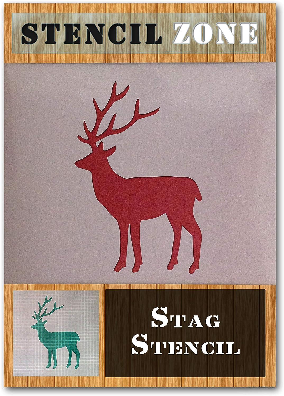 Mylar cerf animaux Stag renne Airbrush Peinture murale Art Artisanat Pochoir 3-XS