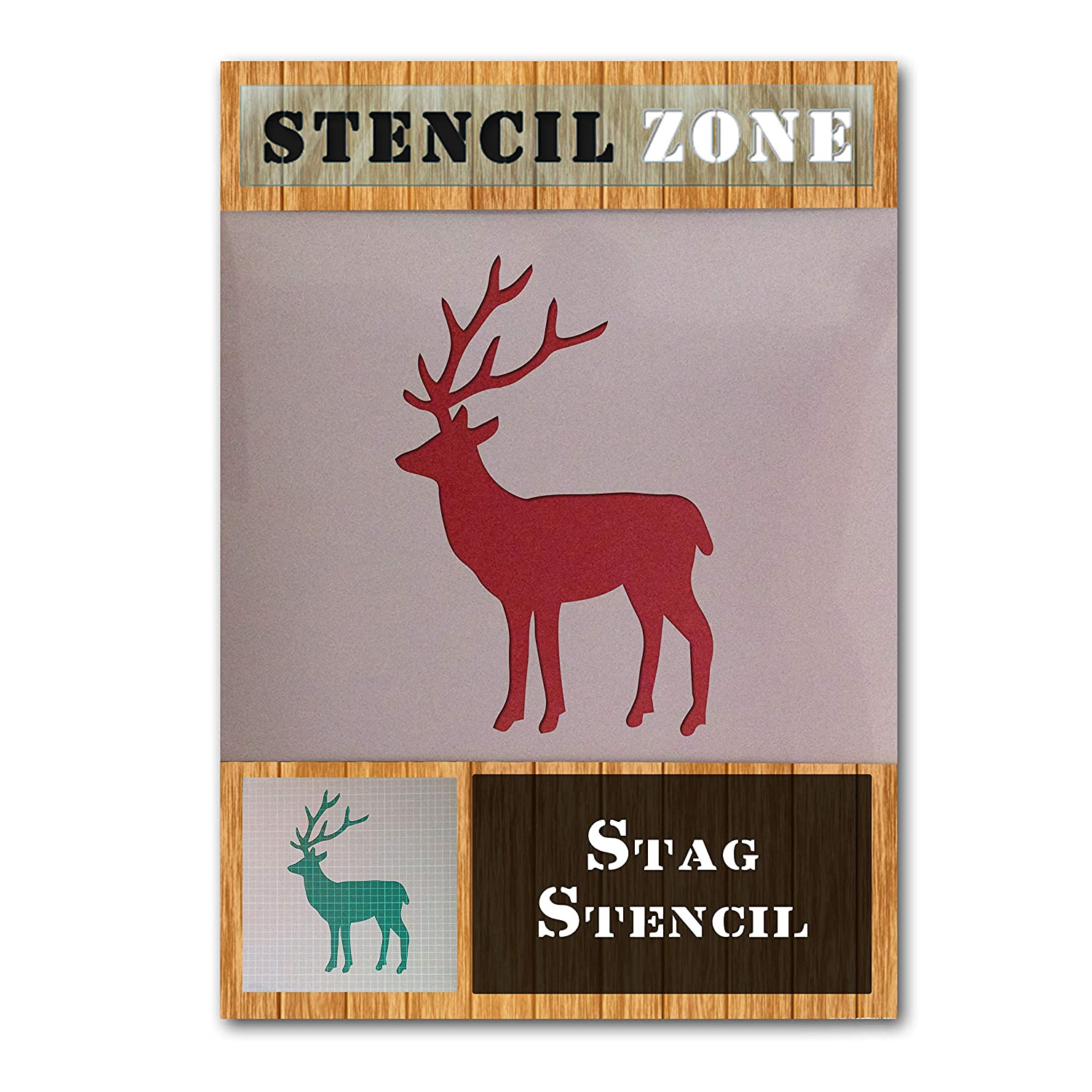 Stag Deer Mylar Reusable Stencil Airbrush Painting Art home decor