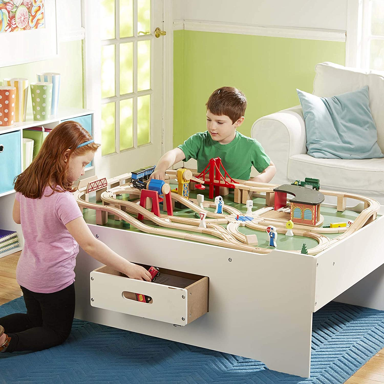Melissa & Doug Deluxe Wooden Multi-Activity Table