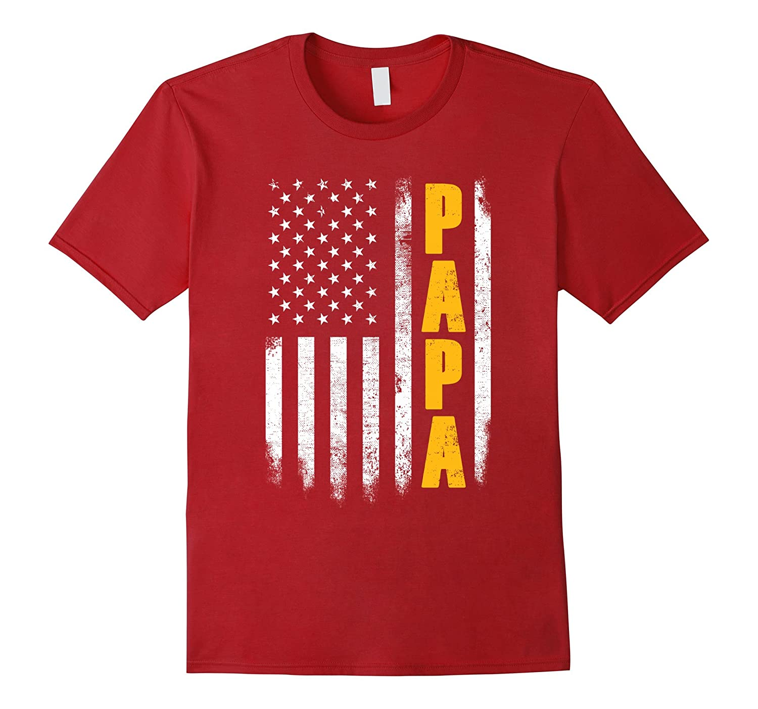 2017 Proud Papa Fathers Day Gifts Shirt From Grandchildren-PL