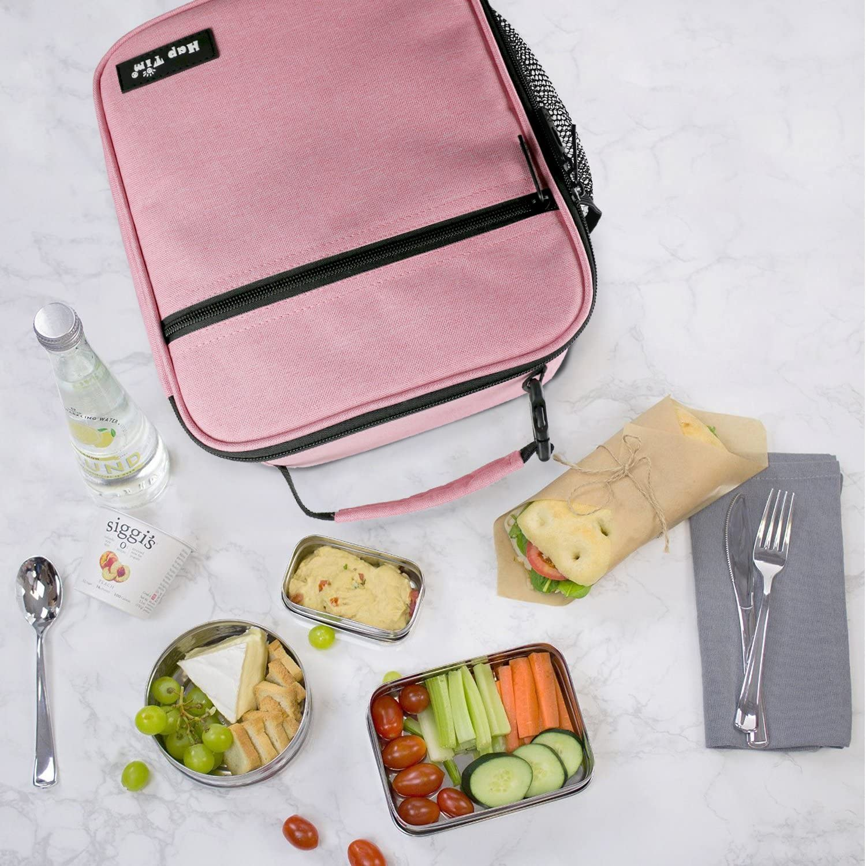 Borsa cool Lunch Box 6.5L per uomini Donne EU18654-BL Borsa pranzo Hap Tim isolata per adulti e bambini Borsa termica resistente e spaziosa Bento Lunch Boxes per adulti e ragazzi