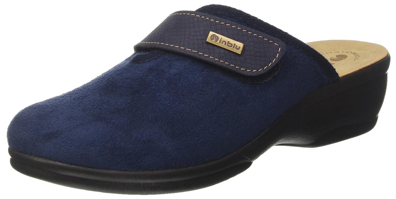 INBLU Bj000083, Pantofole Aperte sulla Caviglia Donna  Blu