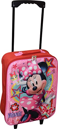 Group Ruz Junior Minnie Mouse 15 Collapsible Wheeled Pilot Case – Rolling Luggage