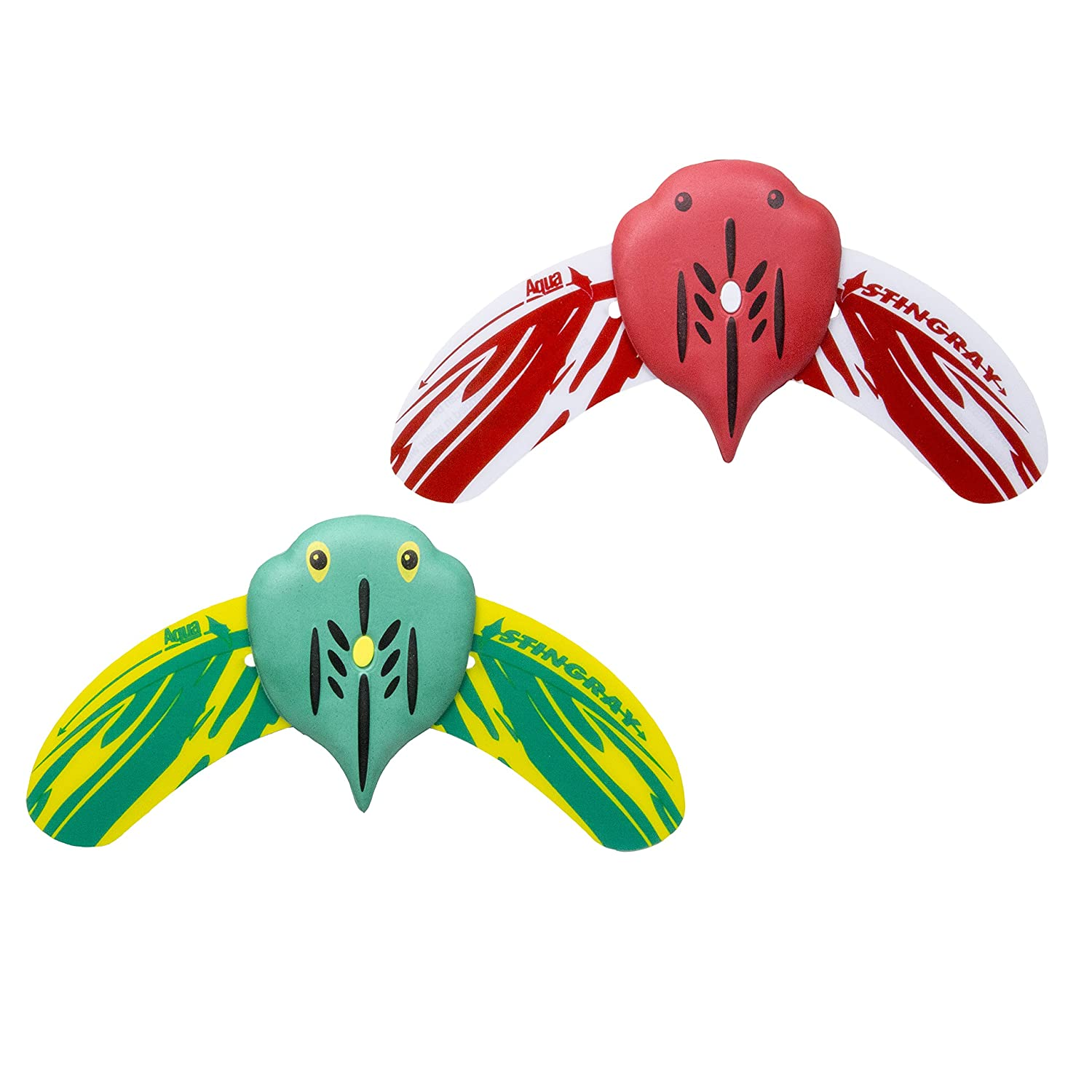 Aqua Mini Stingray Underwater Glider 2 Pack, Self Propelled, Adjustable Fins, Pool Game, Brightly Colored, Ages 5 And Up by Aqua