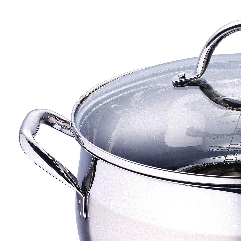 Bergner Q1264 BATERIA Cocina, Acero Inoxidable 18/10, 304 S/S, 10p: Amazon.es: Hogar
