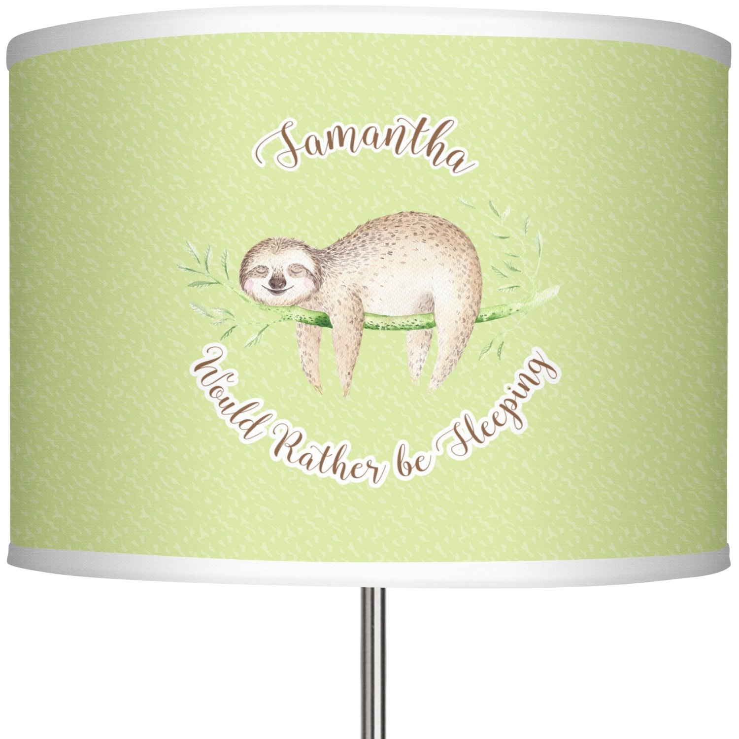 RNK Shops Sloth 13'' Drum Lamp Shade Polyester (Personalized)