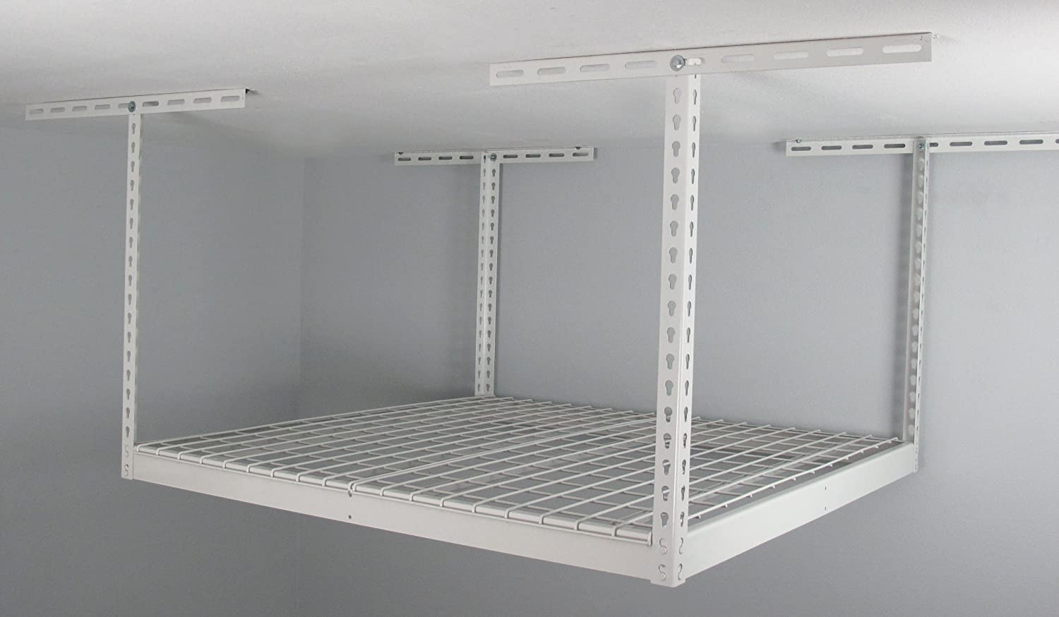 SafeRacks SR 4x4 W 24 Overhead Garage Storage Rack, 4u0027 X 4u0027   Ceiling  Mounted General Purpose Storage Racks   Amazon.com
