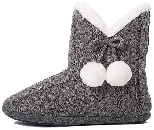 the best attitude b80bd fb6d4 Airee Fairee Hausschuhe Damen Pantoffeln Stiefel Schuhe mit Weichen